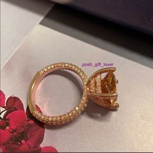 Gorgeous Rose Gold Tone Ring s925